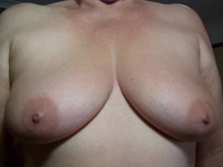 Very lickable, suckable, I think they would look good with my hard cock between them mmmmmm