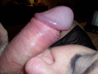 wife licking  my hard cock