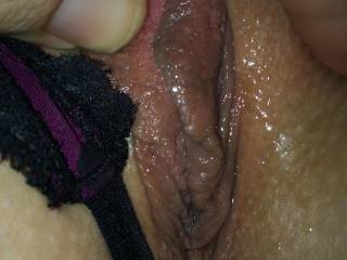 That pussy looks delicious...I hope you got some mouth and tongue work first! Maybe I'll just have to show you what I mean?