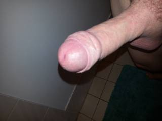 Oh my!!! You have a sexy looking cock....I love that huge head....If I had your cock in my hands...I'd have to pull back your foreskin and suck on it...I wouldn't stop sucking that cockhead until you filled my mouth with your cum.