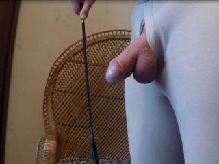 I do so enjoy having someone give my cock at good swat with a crop.  Even better if they get my ass as well. ;)