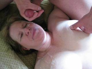 Threesome finale, my Zoig friend cums on her face!