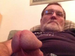 Feeling horny last night so I just had to let him out, wish you\'d been here ?