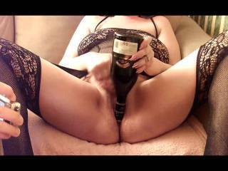 After enjoying a nice glass of Irish Cream, I thought I'd have a little fun with the bottle and hmm it felt so good. Who fancies a little taste of my pussy juice?