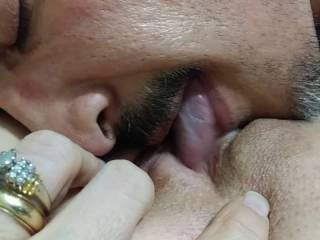 Hubby loves to lick my pussy and practice his cream pie technique. Especially a BBC cream pie!