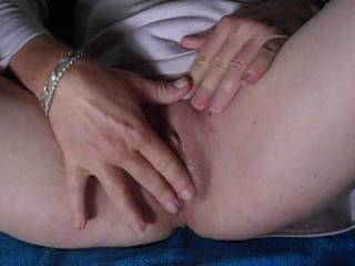 just some finger fun....pussy gets nice and wet like?