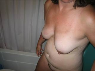 naked in the bathroom