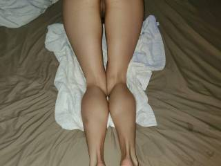 Her sexy little  ass, legs, and feet...who\'s next??.