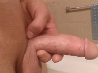 Looking at all of you sexy milfs stroking this 9 inch cock