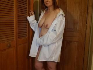 Redhead Wife posing again.