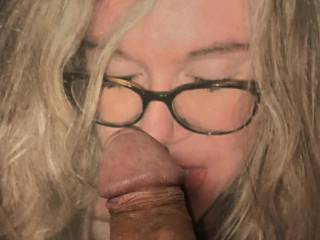 Mrs. Kenobs06 looks so sexy in her glasses. Her soft tongue is equally senuous.