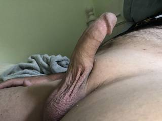 So ready to cum! Wish I had a mouth or pussy around my Dick!