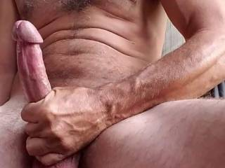 Hubbies big dick,its definitely a two hander looking for someone to lick and suck his balls while I deepthroat him.
