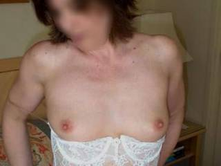 """My """"SMALL 34B CUPS #4""""...  more of me in my """"VIRGINAL WHITE"""" lingerie...  I """"LOVE"""" how """"EROTIC"""" I feel in it!...  YUMM!"""