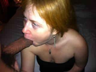she cant stop sucking her first black dick. I so much enjoyed the fun