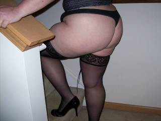 Lupo\'s wife during another playdate...she stopped by after work and was wearing this under her dress.  She asked me if I wanted to fuck her and then walked up the stairs