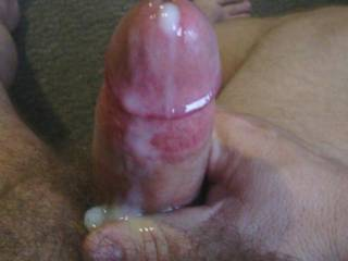 Oh yes!! Love to lick and suck all that yummy cum of that thick cock....x