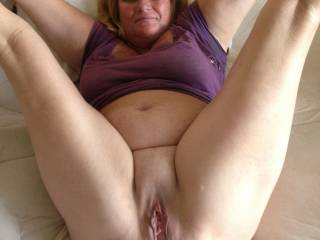 What a HOT pussy hole. My neighbor has a big gaping pussy hole like yours. She fucks my big dick like a wild thing. Boy do we make music. My wife can't take my dick like she dose,but likes to join in.