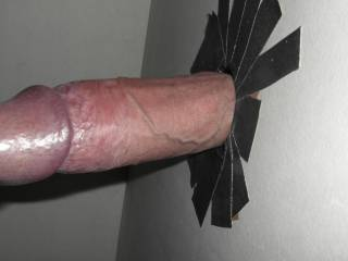cock in glory hole