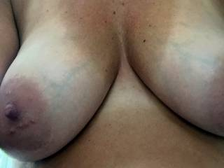 would love to trace my tongue around one of her big areolas then tease that big nipple