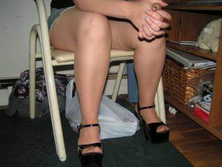 on my knees kissing and sucking on those sexy tan pantyhose you are made for pantyhose