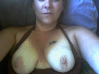 I'd love to kiss, suck and nibble on those nipples until they're long and hard... then we could send you the pic!