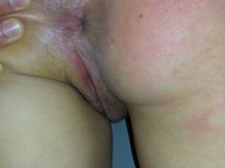 Kenny stretching my ass as he spanks me - I'd love someone to tongue my tight hole and finger my pussy