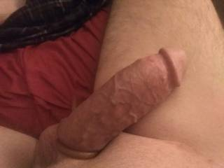 Put a cock ring on it to get good and hard