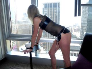 Wondering if someone wants to spank my ass in the buildings across?....maybe you do?