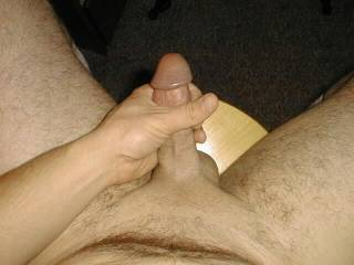 Love to jack my shaven cock.