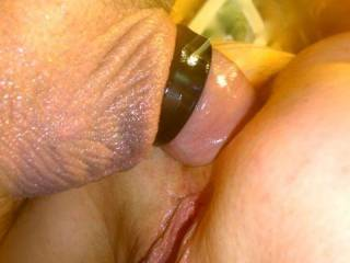 Not the best pic but I had the camera on the wrong setting. Just a close up of us having anal sex. We will have some better pics to share soon. Thanxxx
