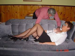 Me warming my mature wife up