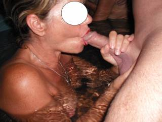 suck a couple of lucky cocks to have someone this hot sliding her lips up and down them.