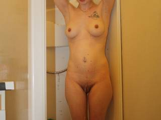 She is hot, can we join in the fun in the shower?