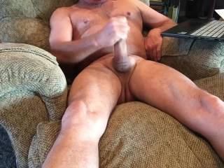 Envious...look how tight your balls are and how stiff your legs are...and that hand a blur on your cock...gawd it's obvious it feels intensely pleasurable!