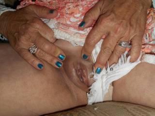 I love flashing my wet pussy