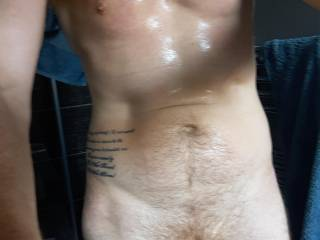 All hot after a run, care to join me in the shower?