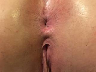 My slaves fresh shaved ass before I gave her a cream pie