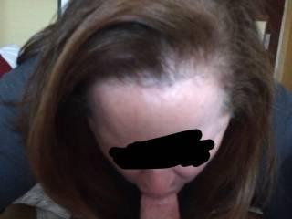Wife sucking me