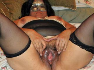 My pussy is warm, wet & waiting to hug your cock!