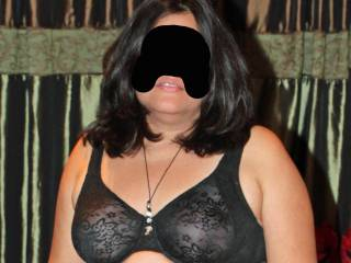 My new bra!  Can you see my nipples?