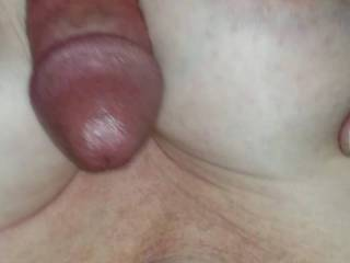 Nice feeling his cock between my tits and spewing all over ...enjoy