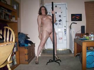 wife nude pole dancing