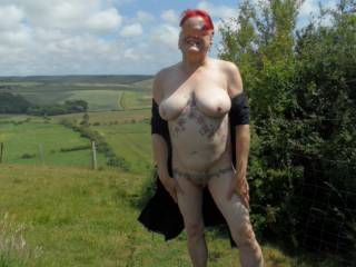 Hi all completing some requests for me to get naked in nature. dirty comments welcome mature couple