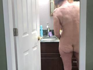 Another view of my sexy wife's backside.