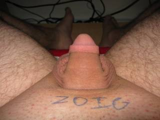 My soft cock with the zoig logo