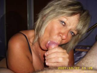 My wife loves sucking cock............