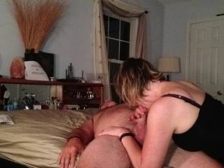 Finishing off with a great blowjob.