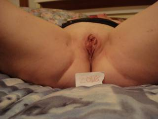 My wifes pussy waiting for any takers.