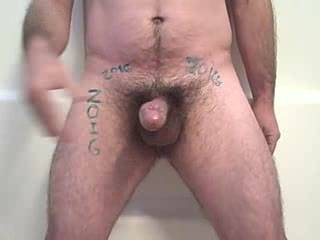 like to watch u stroking your hairy cock...nice cumshot!